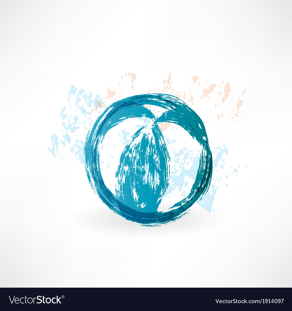 Ball grunge icon vector | Price: 1 Credit (USD $1)