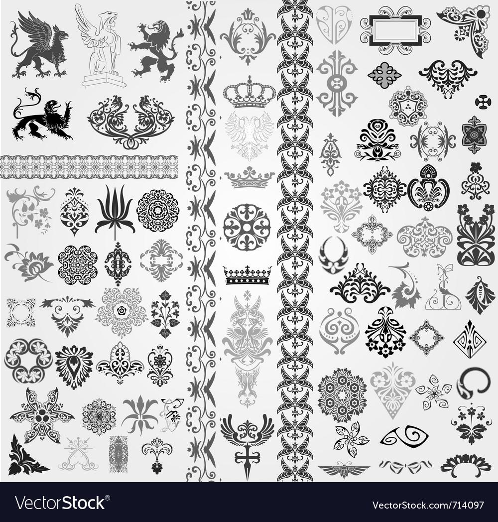 Baroque set vector | Price: 1 Credit (USD $1)