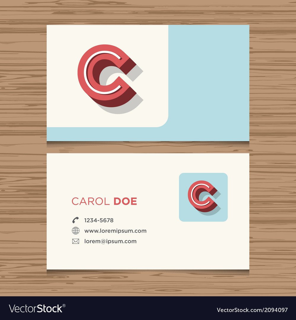 Business card letter c vector | Price: 1 Credit (USD $1)