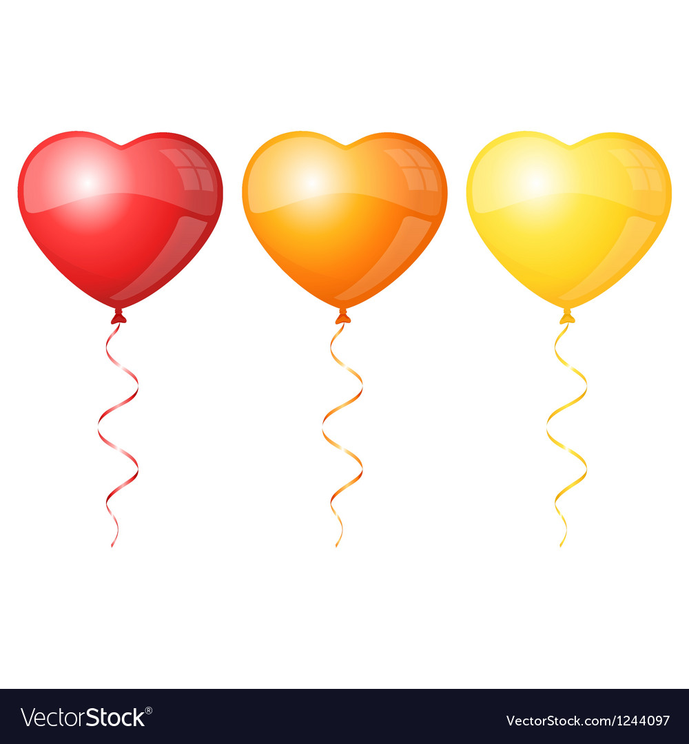 Colorful heart balloons vector | Price: 1 Credit (USD $1)