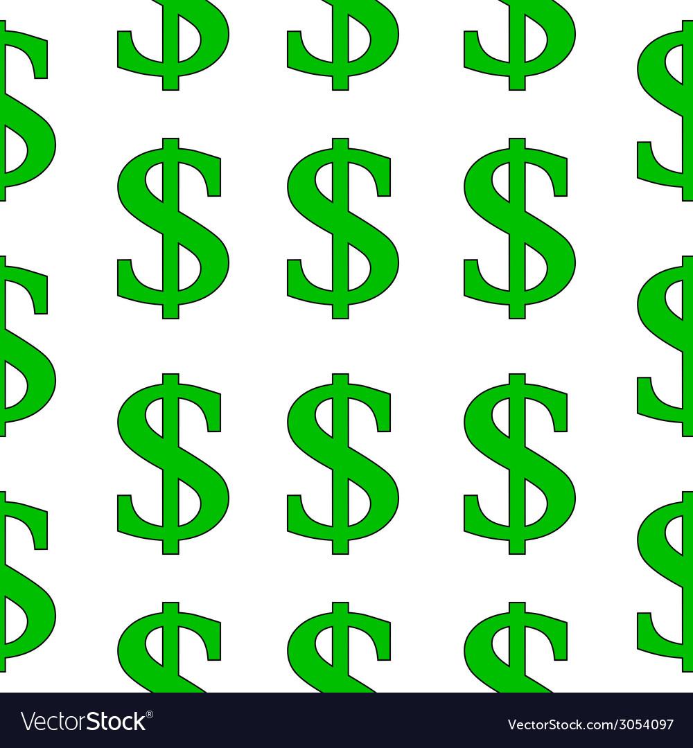 Dollar symbol seamless pattern vector | Price: 1 Credit (USD $1)