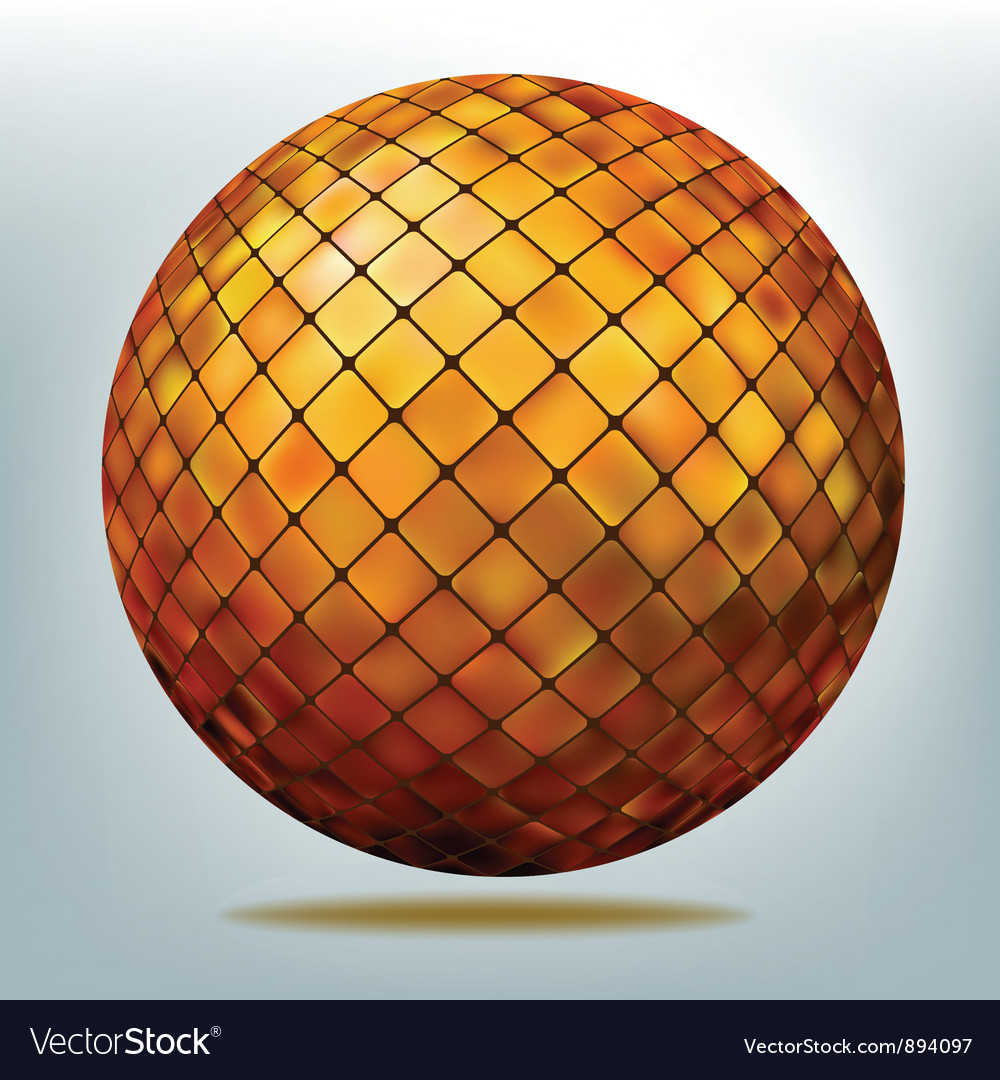 Golden disco ball vector | Price: 1 Credit (USD $1)