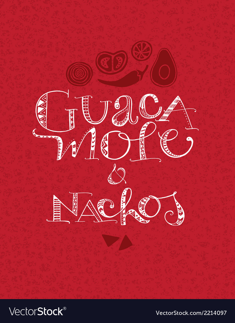 Guacamole and nachos vector | Price: 1 Credit (USD $1)