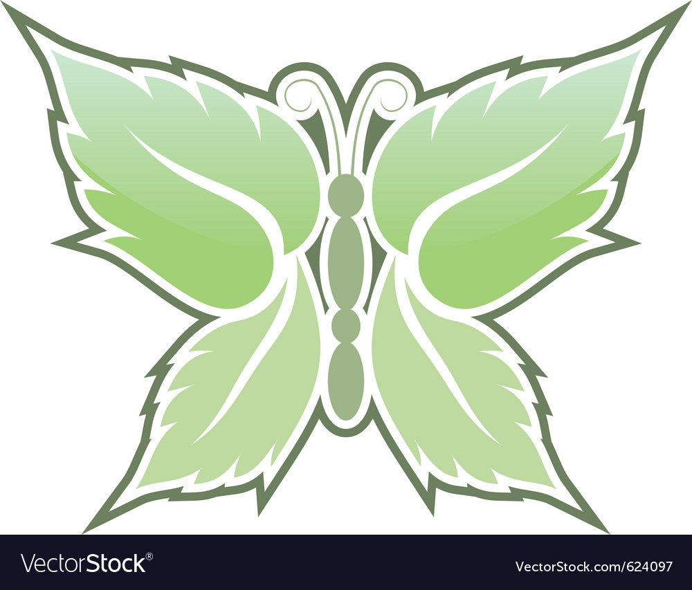 Mint butterfly vector | Price: 1 Credit (USD $1)