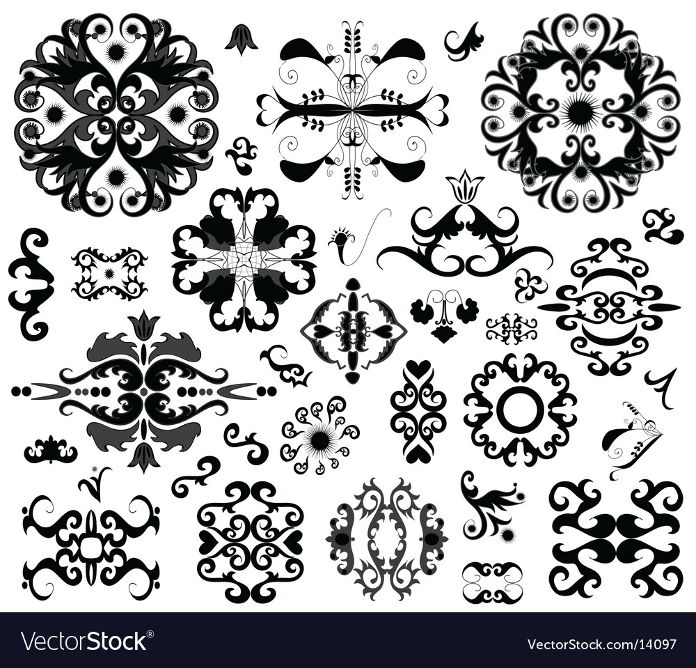 Ornament elements vector | Price: 1 Credit (USD $1)