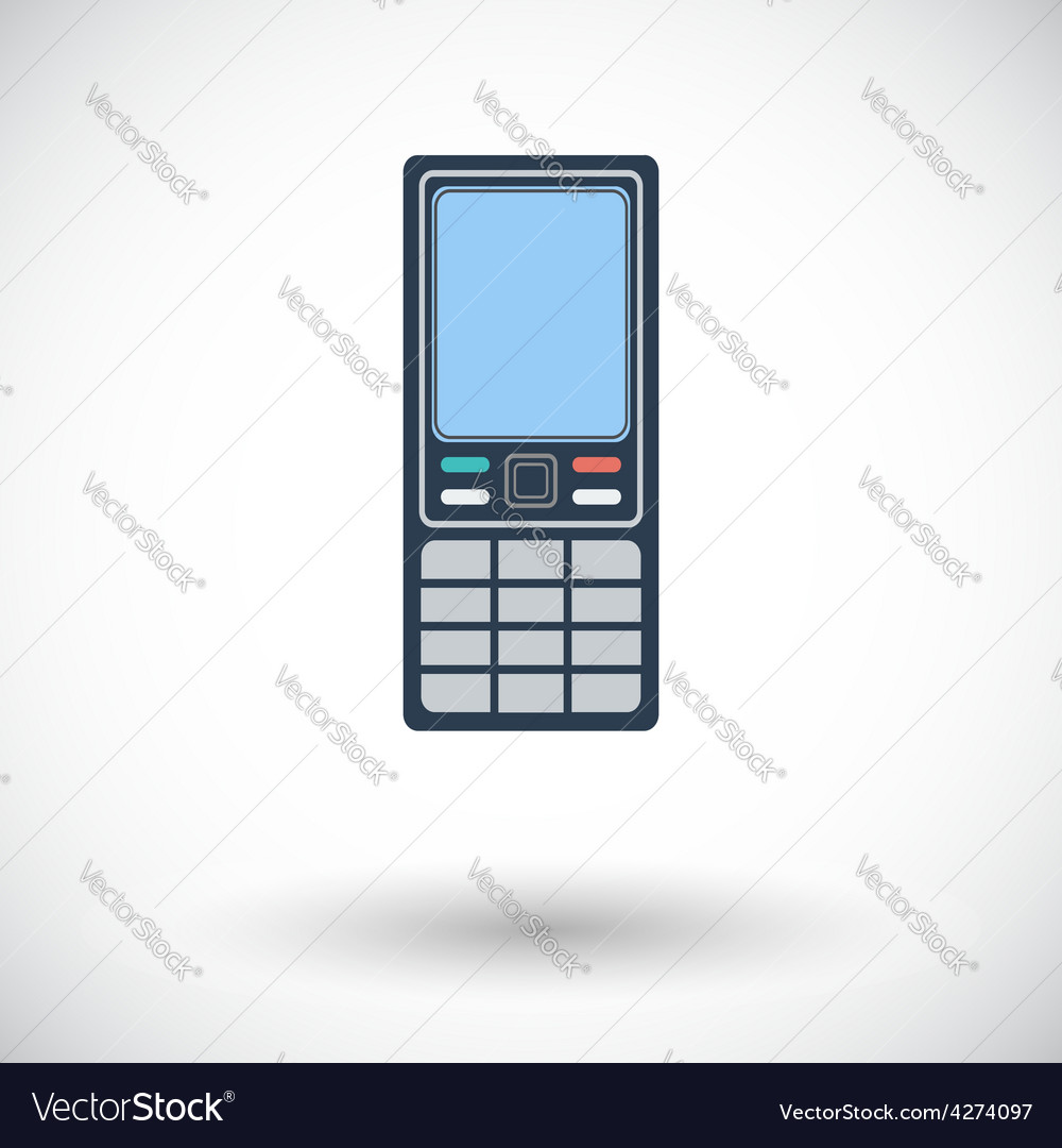 Phone single icon vector | Price: 1 Credit (USD $1)