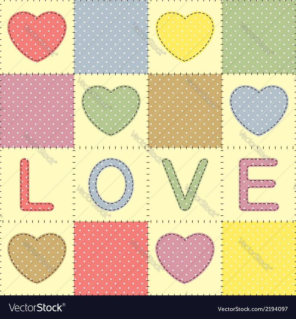 Romantic patchwork vector | Price: 1 Credit (USD $1)