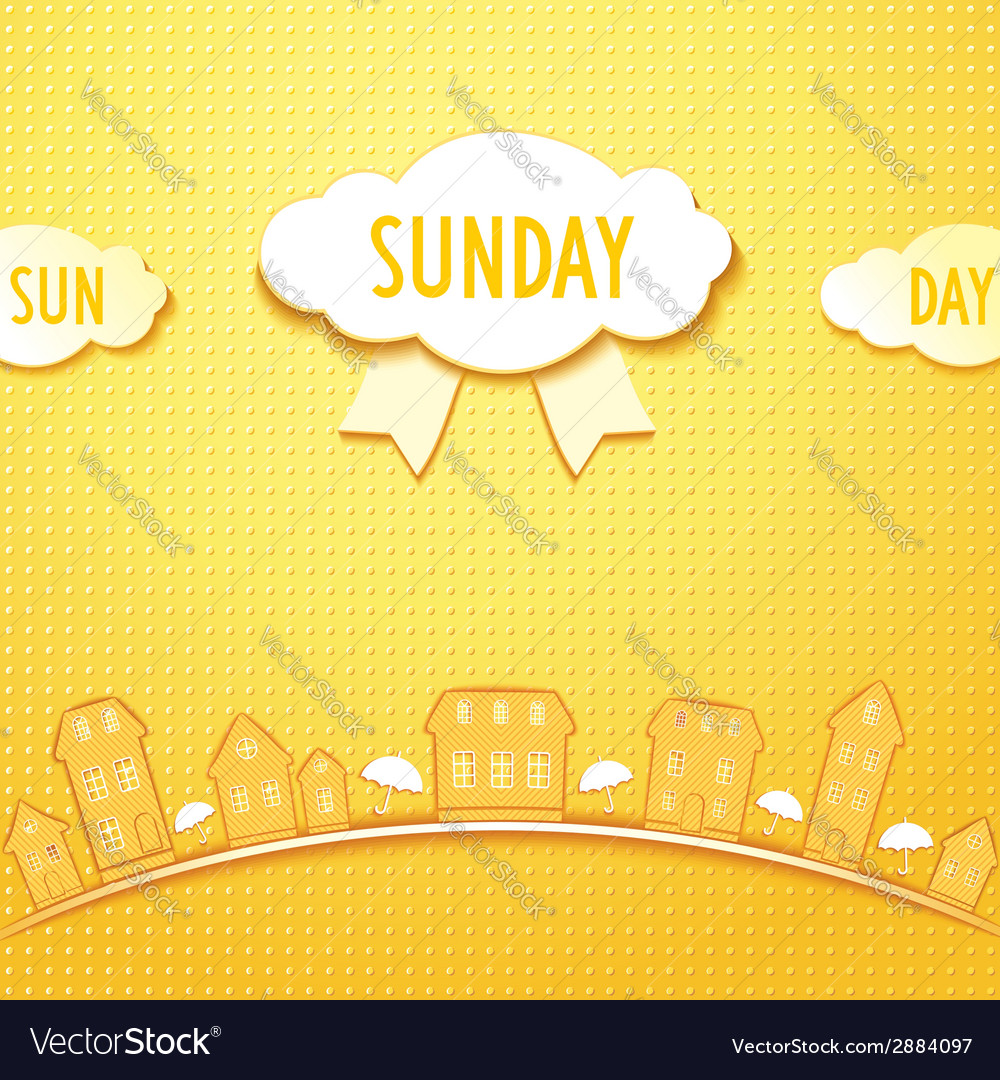 Sunday city vector | Price: 1 Credit (USD $1)