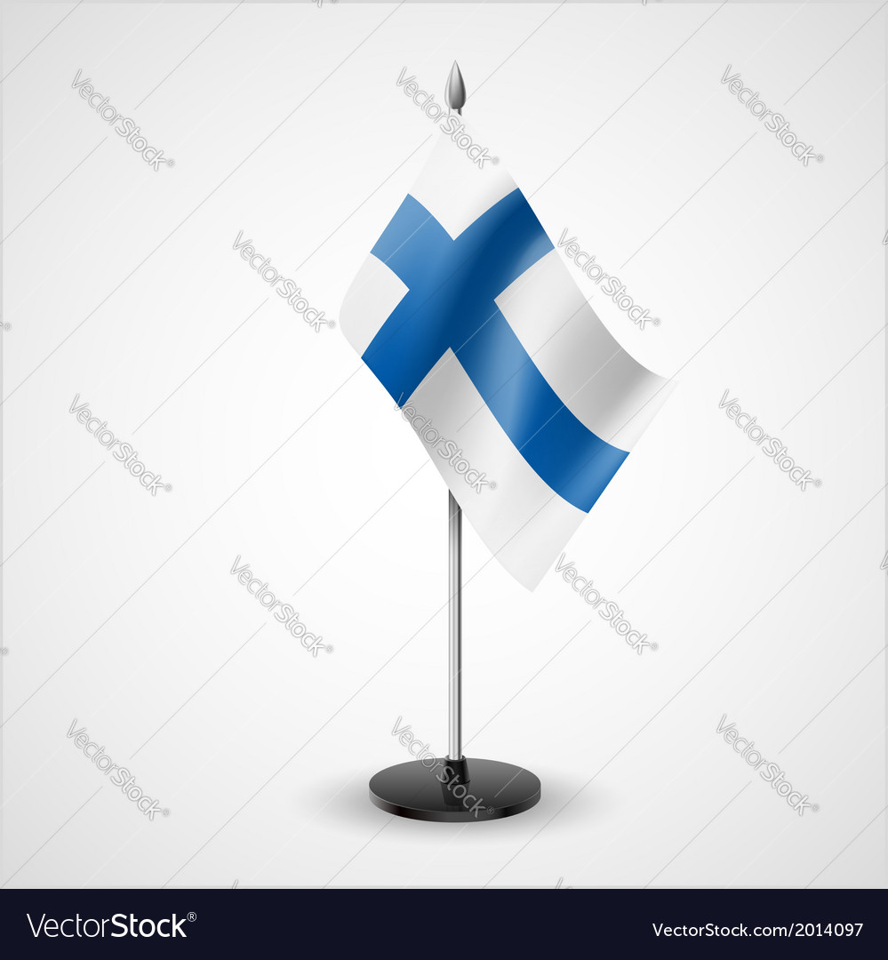 Table flag of finland vector | Price: 1 Credit (USD $1)