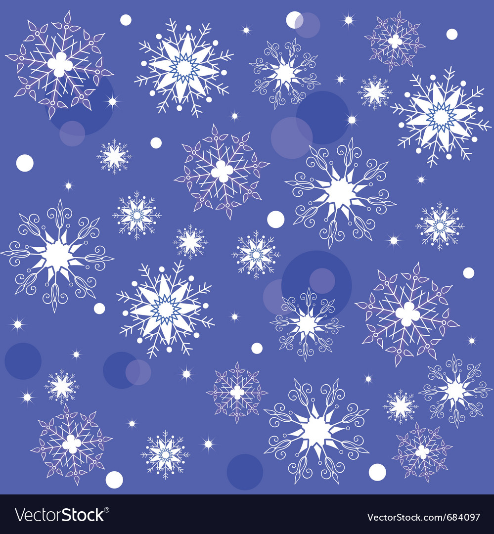 Texture of the snowflakes vector | Price: 1 Credit (USD $1)