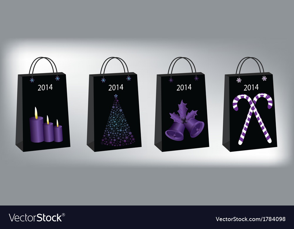 Christmas shopping bags vector | Price: 1 Credit (USD $1)