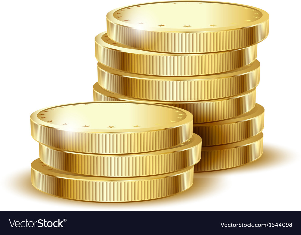 Coins gold vector | Price: 1 Credit (USD $1)