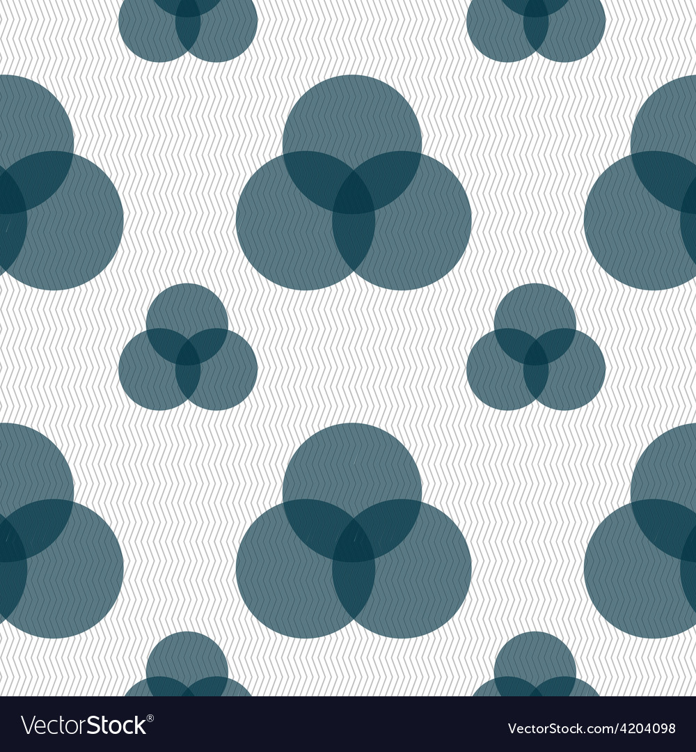 Color scheme icon sign seamless pattern with vector | Price: 1 Credit (USD $1)