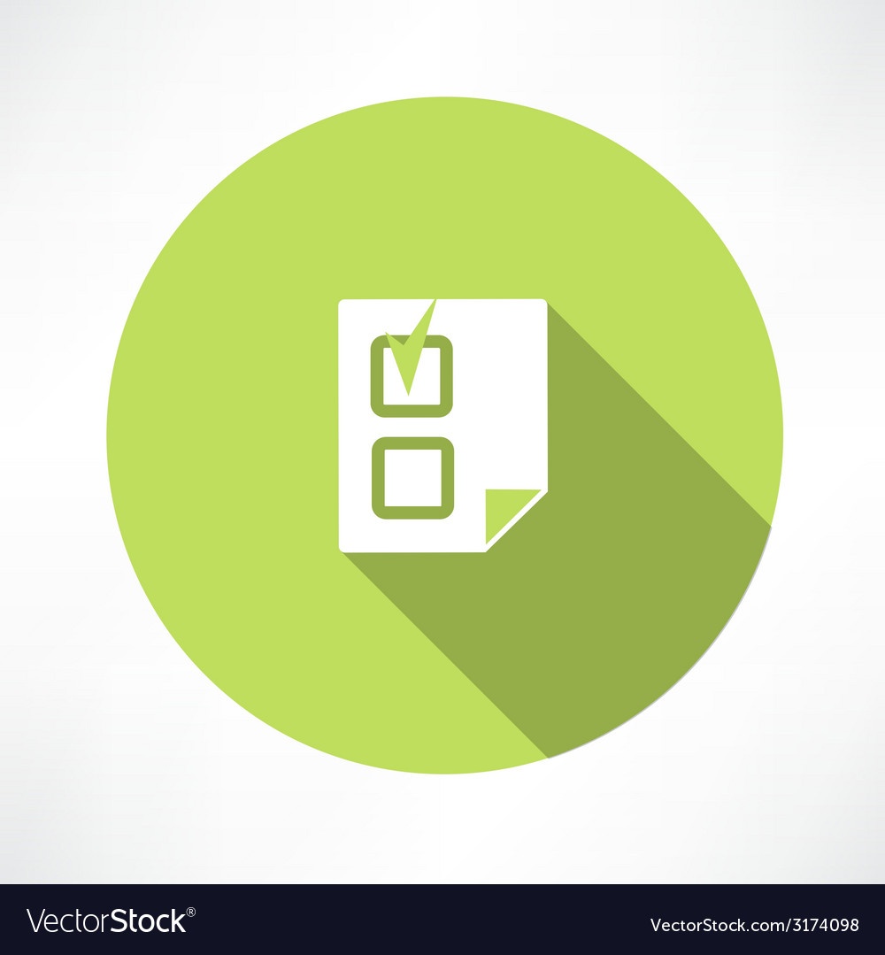 Document with a check mark icon icon vector | Price: 1 Credit (USD $1)