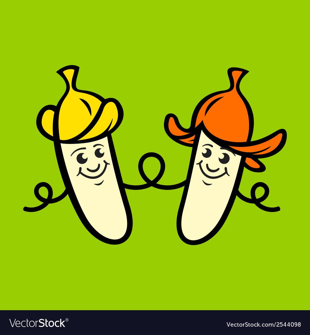 Family banana sign vector | Price: 1 Credit (USD $1)