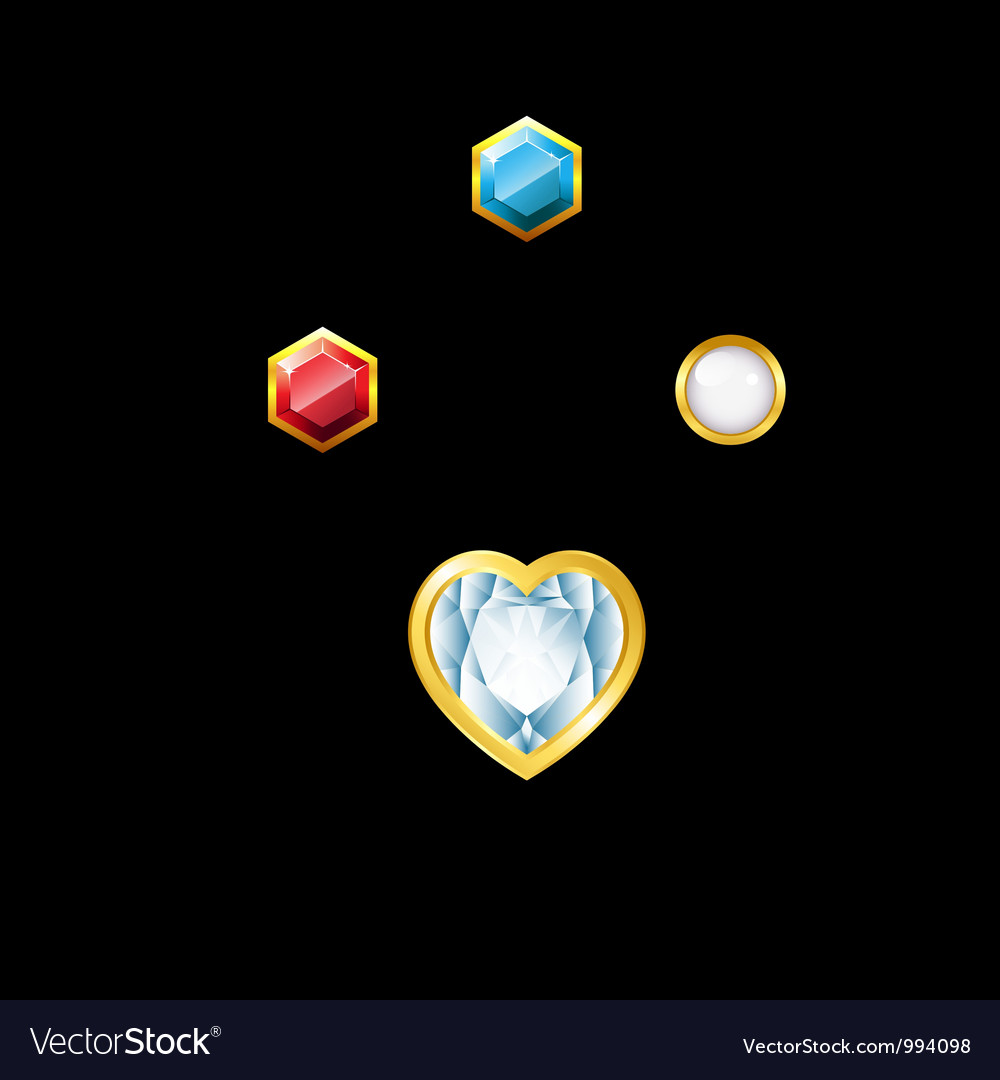 Gems with holder vector | Price: 1 Credit (USD $1)
