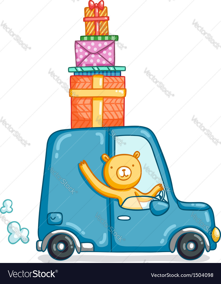 Gifts delivery vector | Price: 3 Credit (USD $3)
