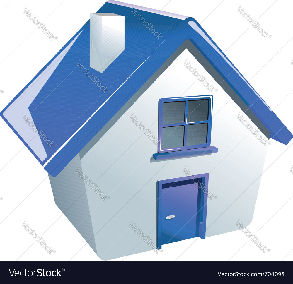 Glossy house icon vector | Price: 1 Credit (USD $1)
