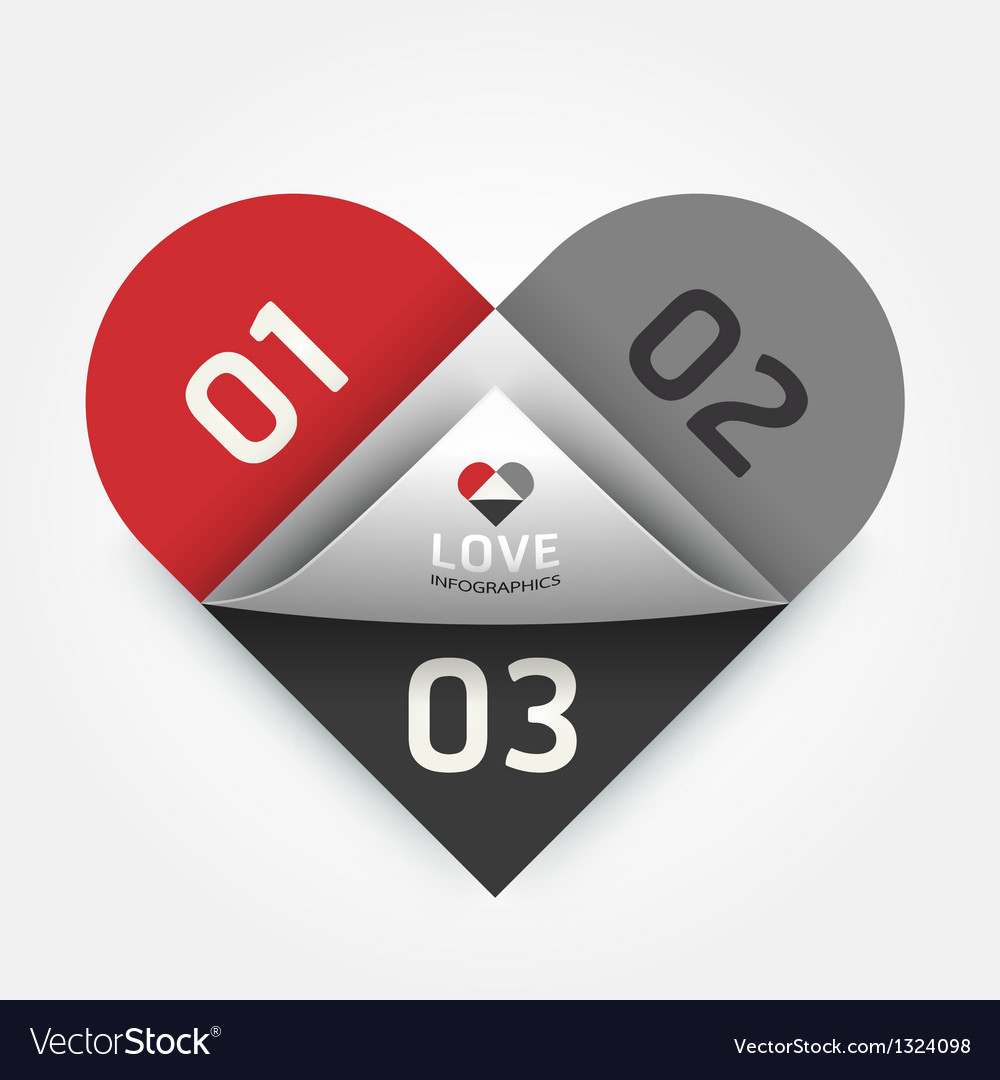 Modern design abstract heart template can be used vector | Price: 1 Credit (USD $1)