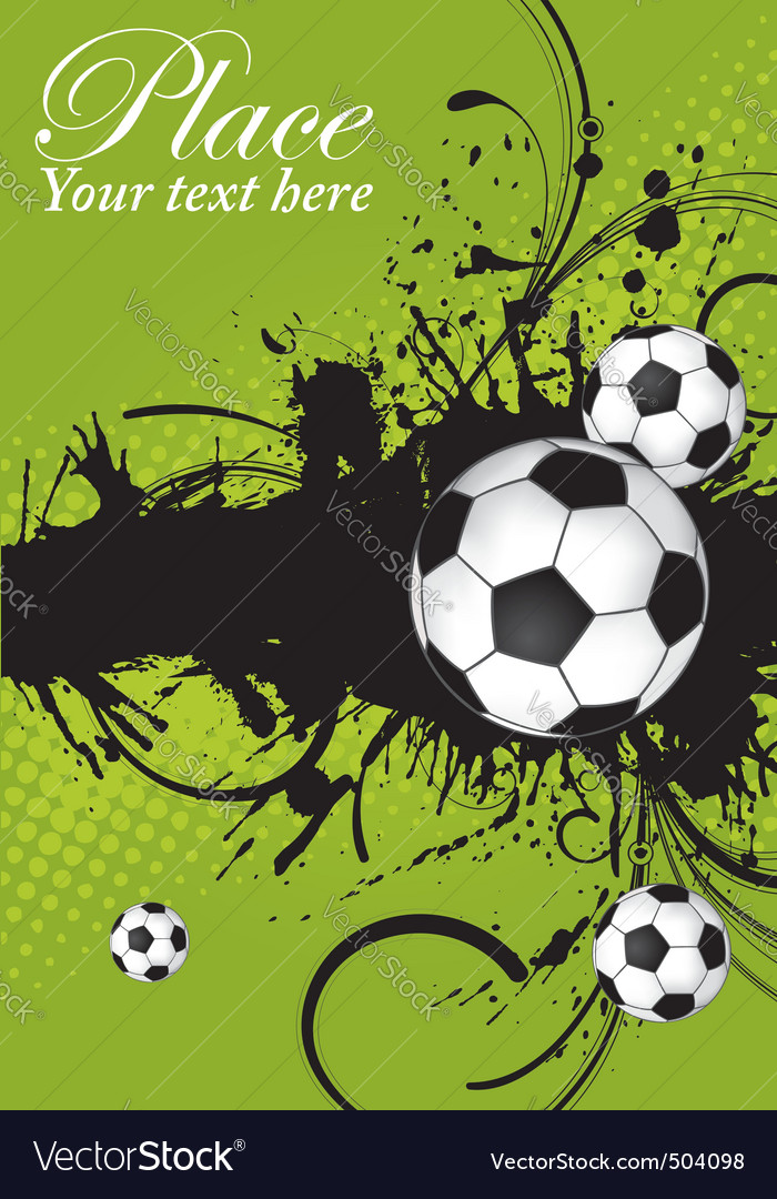 Soccer ball theme vector | Price: 1 Credit (USD $1)