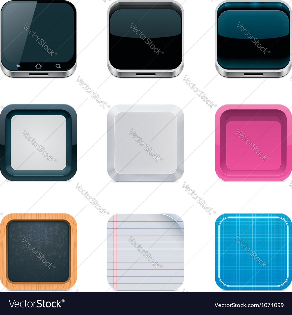 Backgrounds for square icons vector | Price: 3 Credit (USD $3)
