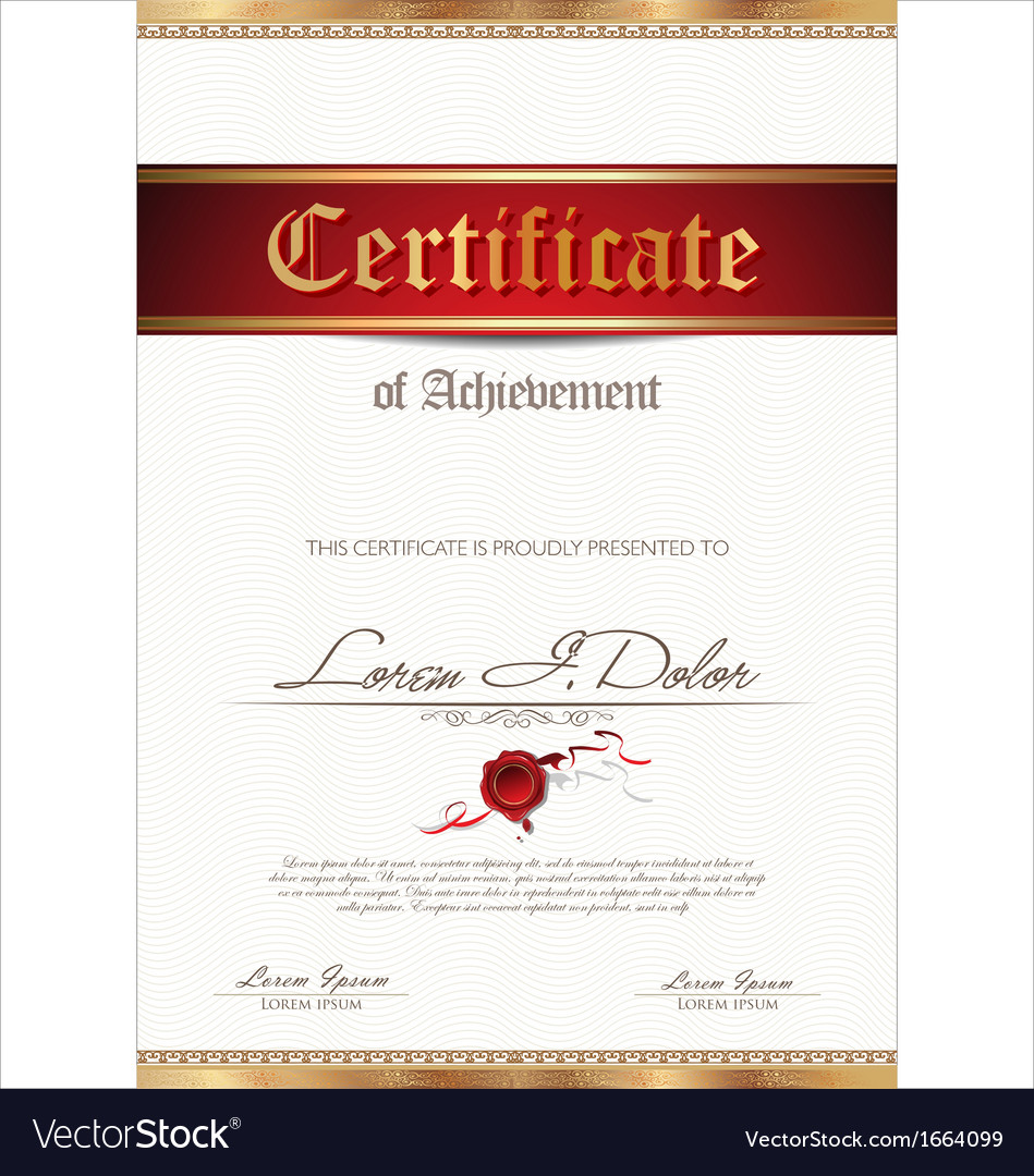 Certificate or diploma template vector | Price: 1 Credit (USD $1)