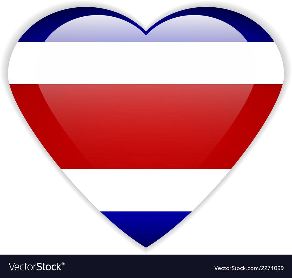 Costa rica flag button vector | Price: 1 Credit (USD $1)