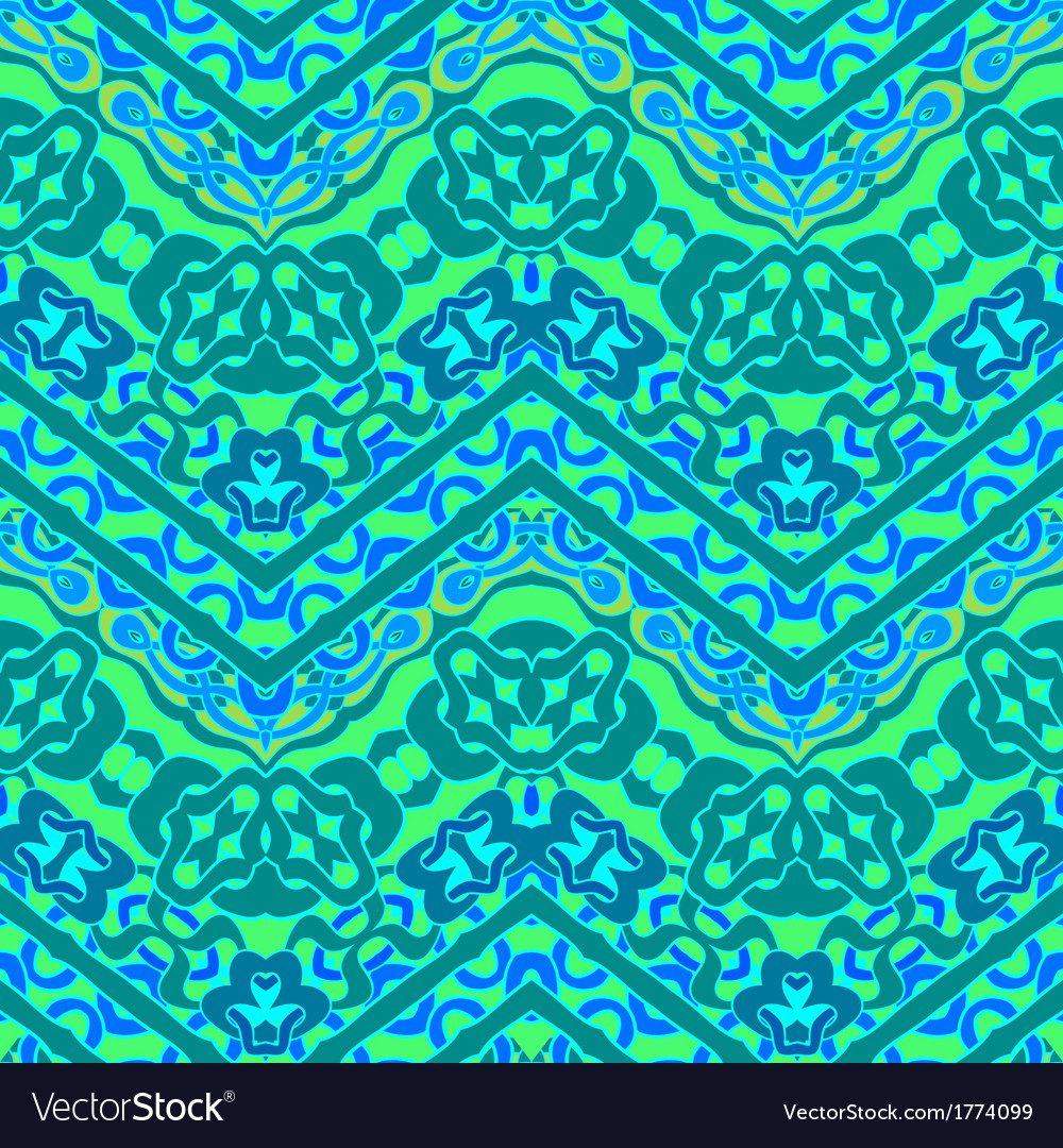 Ethnic hand drawn pattern with zigzag lines vector | Price: 1 Credit (USD $1)