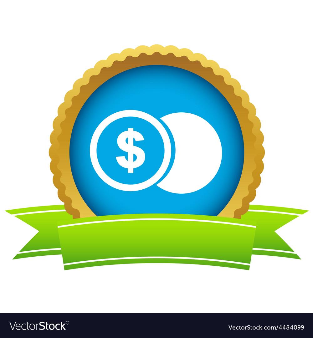 Gold dollar coin logo vector | Price: 1 Credit (USD $1)