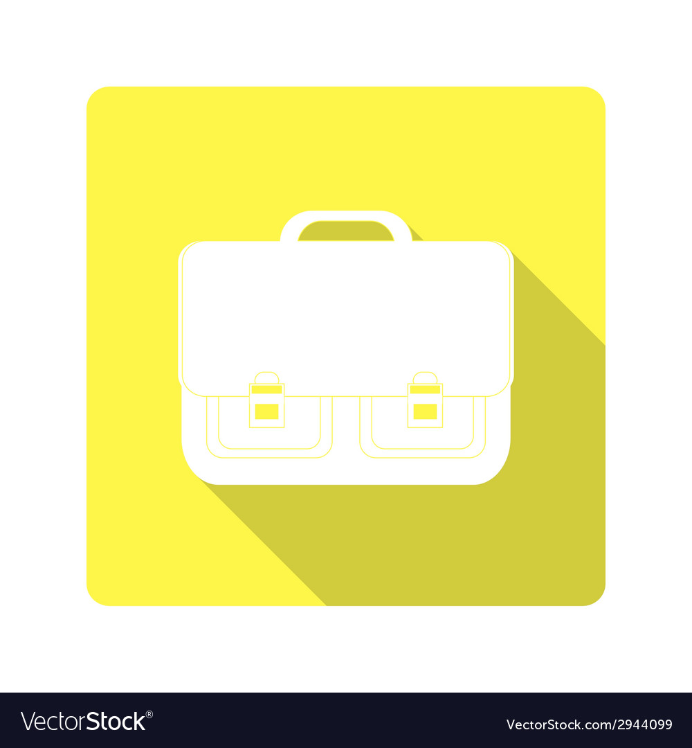 Icon classic school bag vector | Price: 1 Credit (USD $1)