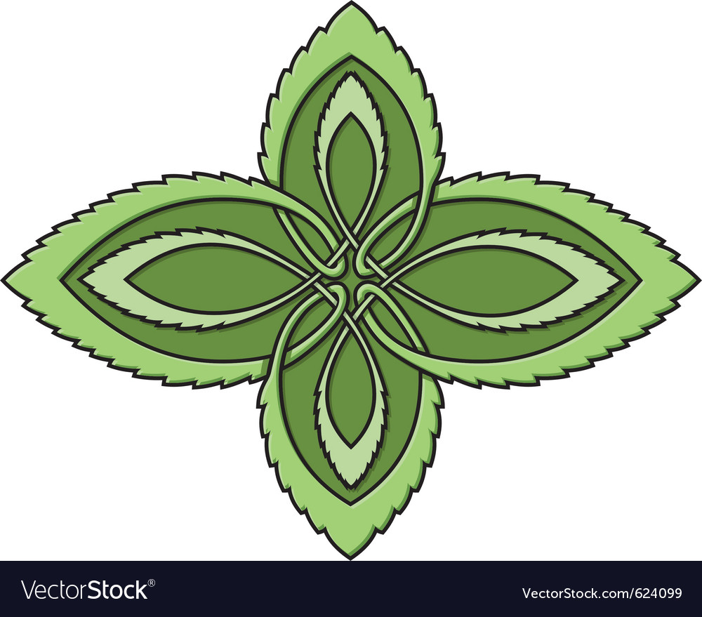 Mint celtic knot vector | Price: 1 Credit (USD $1)