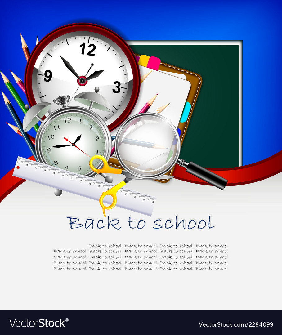 Modern back to school background for you design vector | Price: 1 Credit (USD $1)