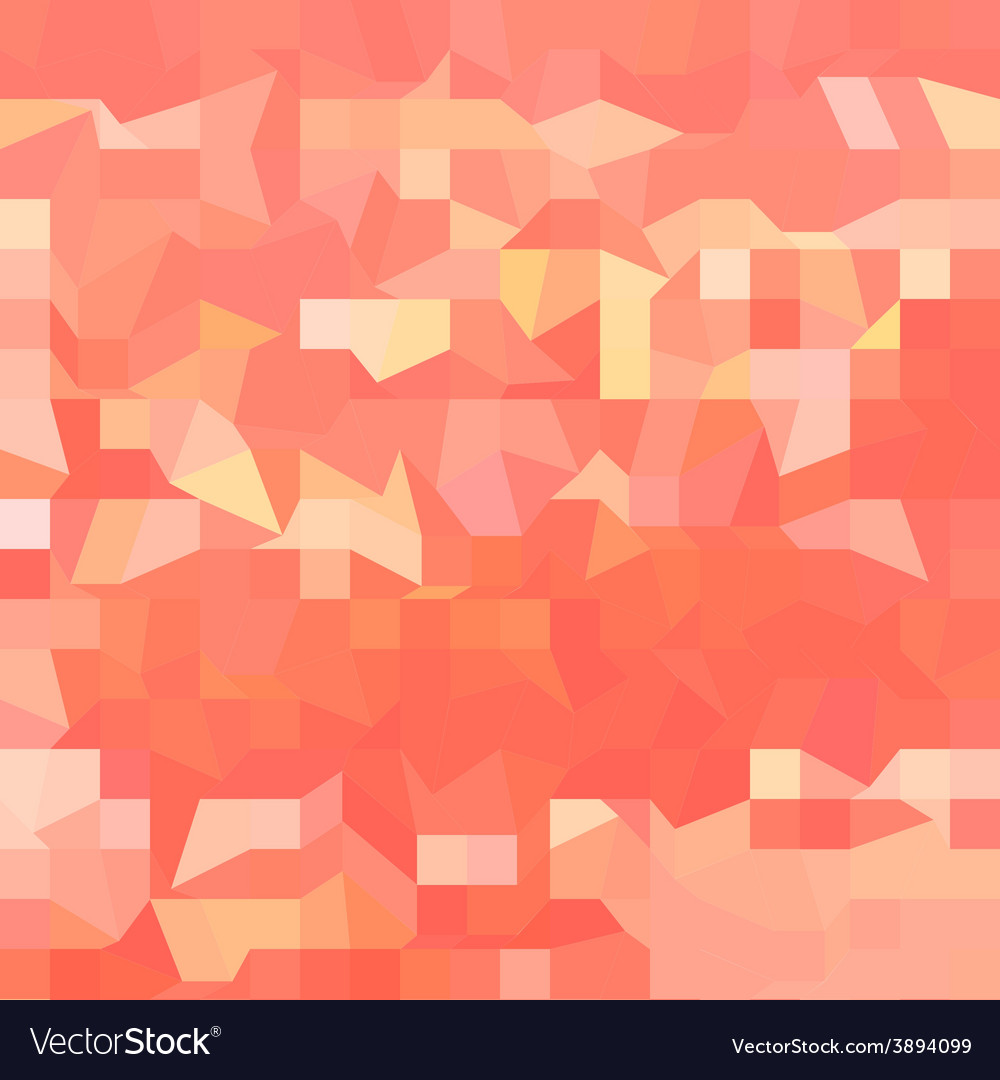 Orange abstract low polygon background vector | Price: 1 Credit (USD $1)