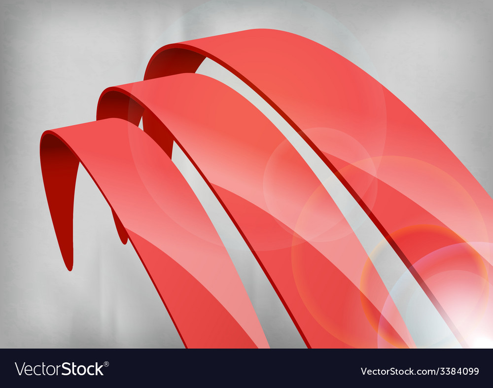Red abstract curves vector | Price: 1 Credit (USD $1)