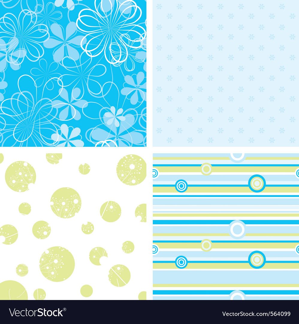Scrapbook patterns for design vector | Price: 1 Credit (USD $1)