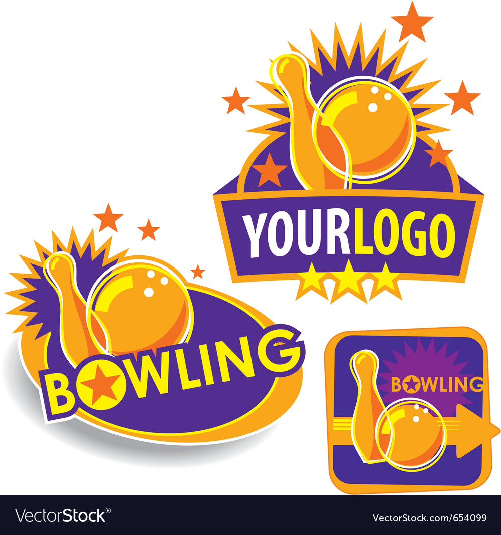 Set of bowling icons vector | Price: 1 Credit (USD $1)
