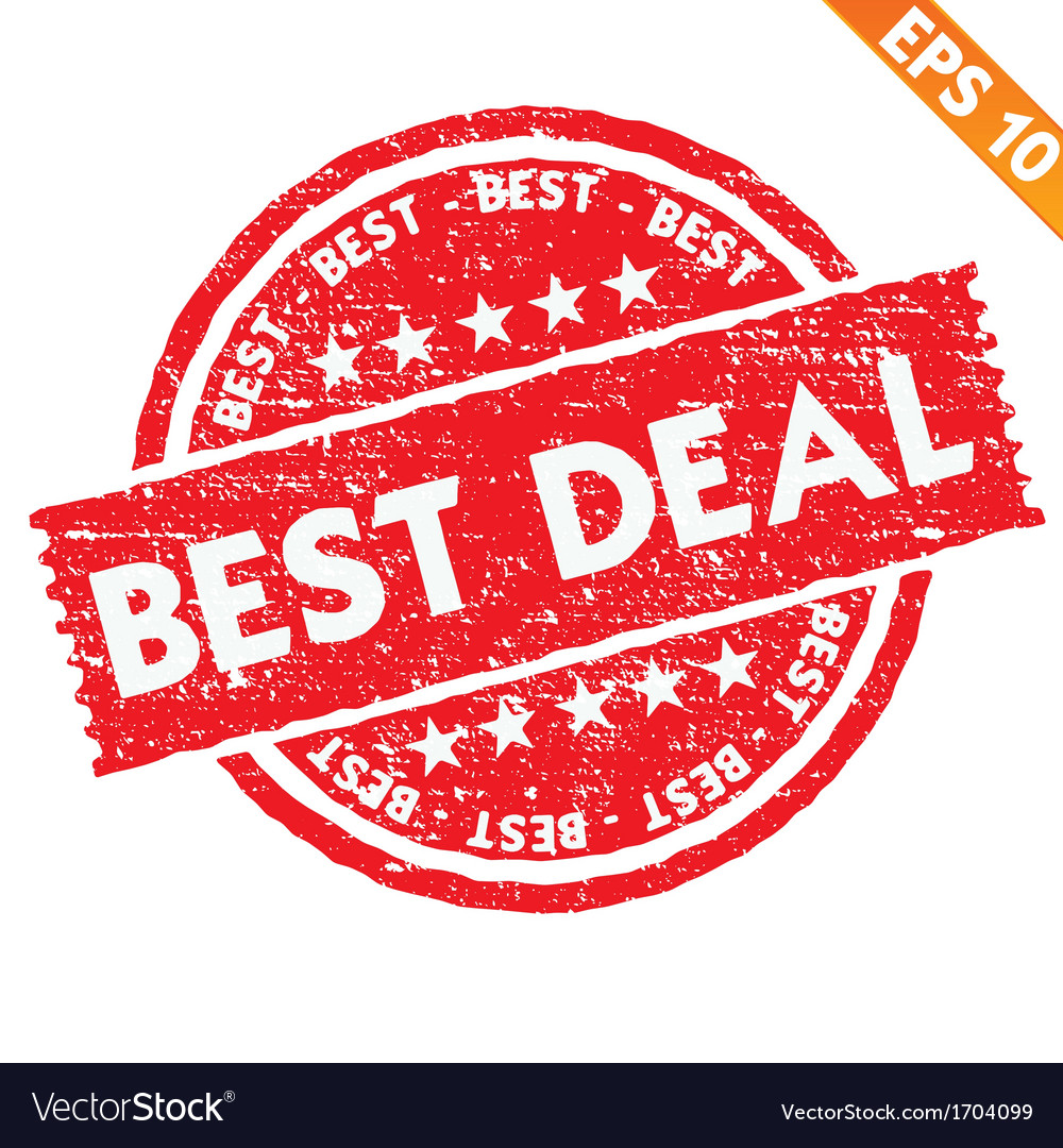 Stamp sticker best deal collection - - eps1 vector | Price: 1 Credit (USD $1)