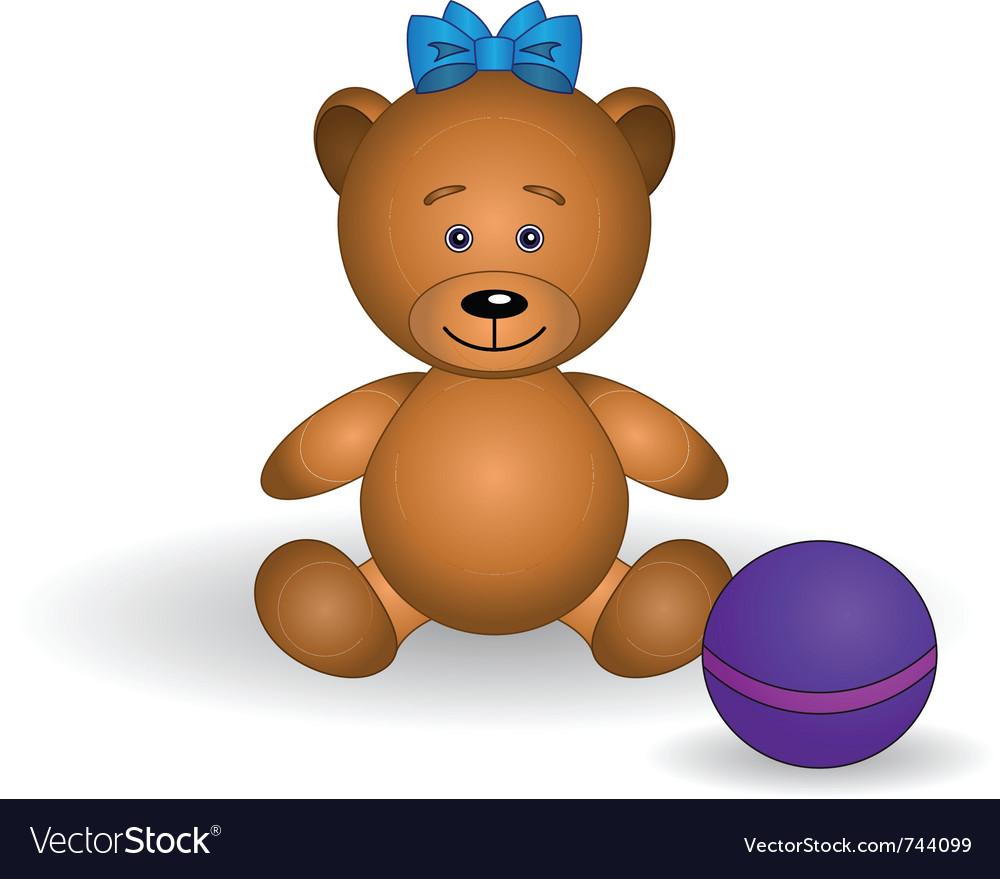 Toy teddy bear vector | Price: 1 Credit (USD $1)