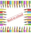 Set of coloured pencils on white background vector
