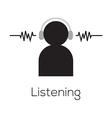 Listening icon vector