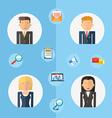 Business teamwork concept flat vector
