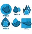 Aqua symbols vector