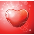 Heart red shape on red background vector