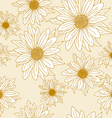 Seamless wallpaper with beautiful flowers vector
