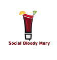 Social bloody mary cocktail vector