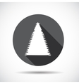 Christmas tree flat icon with long shadow vector