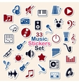 Set of music icon stickers vector
