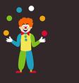 Clown juggling balls vector