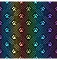 Seamless animal spectrum pattern of paw footprint vector