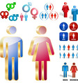 Men and women icons vector